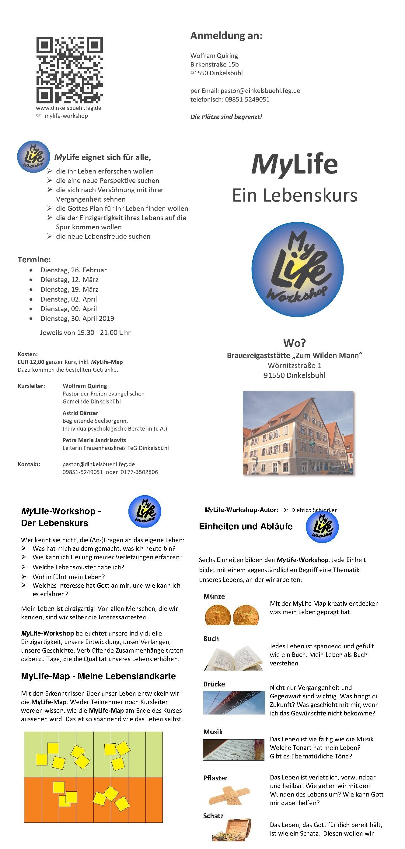 MyLife Workshop Dinkelsbühl 2019